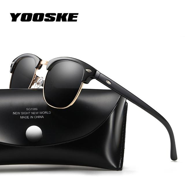 235e6bd4c YOOSKE Classic Polarized Sunglasses Men Women Retro Brand Designer High  Quality Sun Glasses Female Male Fashion Mirror Sunglass