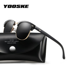 YOOSKE Classic Polarized Sunglasses Men Women Retro Brand Designer Sun Glasses Female Male Fashion Mirror UV400 Sunglass(China)