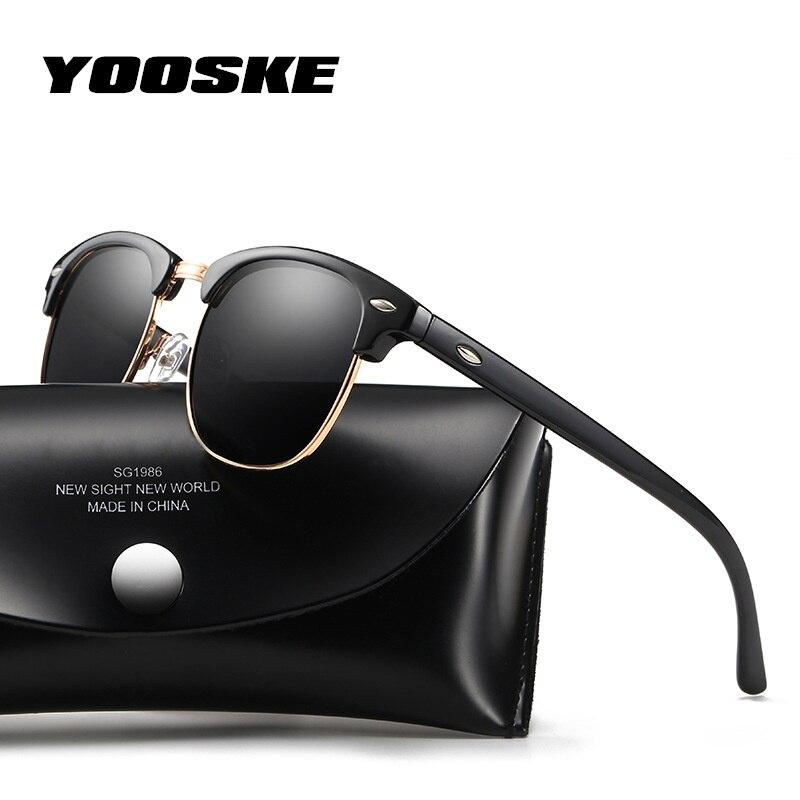 YOOSKE Classici Occhiali Da Sole Polarizzati Uomini Donne Retro Progettista di Marca di Alta Qualità Occhiali Da Sole Moda Maschile Femminile Specchio Occhiali Da Sole