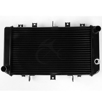 Motorcycle Radiator Cooler Aluminum For Kawasaki Z750 2004-2006 Z750S 2005-2007 BLACK