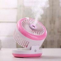 Quiet Rechargeable Portable Spray Beauty Ventilateur 2000mAhmUSB Fan Summer Office Mini Desk Cooling Fan 3 5
