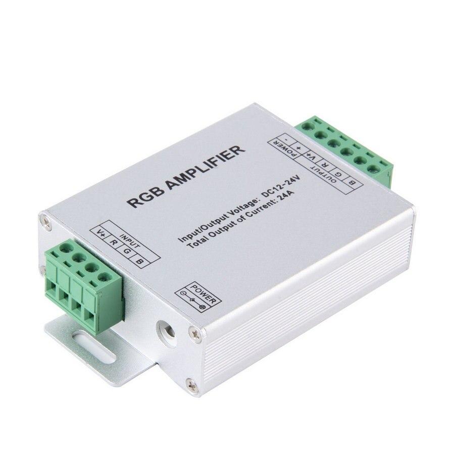 1Pcs LED RGB Amplifier 24A LED Controller DC12 24V for 5050 3528 RGB LED Strip Light