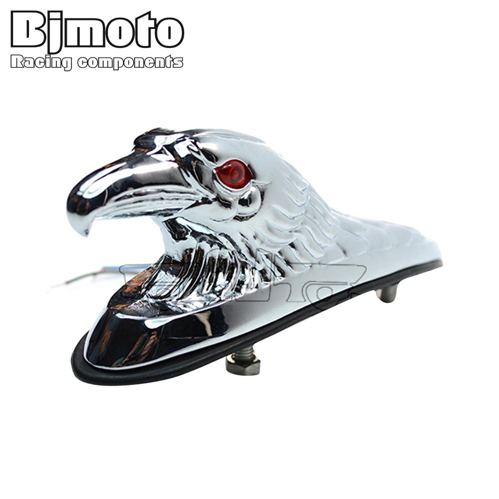 LPL-021-CR-CR Chrome Eagle Head Ornament Statue For Motorcycle Motorbike ATV Front Fender Frames & Fittings Car Bonnet