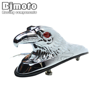 BJ LPL 021 Chrome Eagle Head Ornament Statue For Motorcycle Motorbike ATV Front Fender Frames Fittings