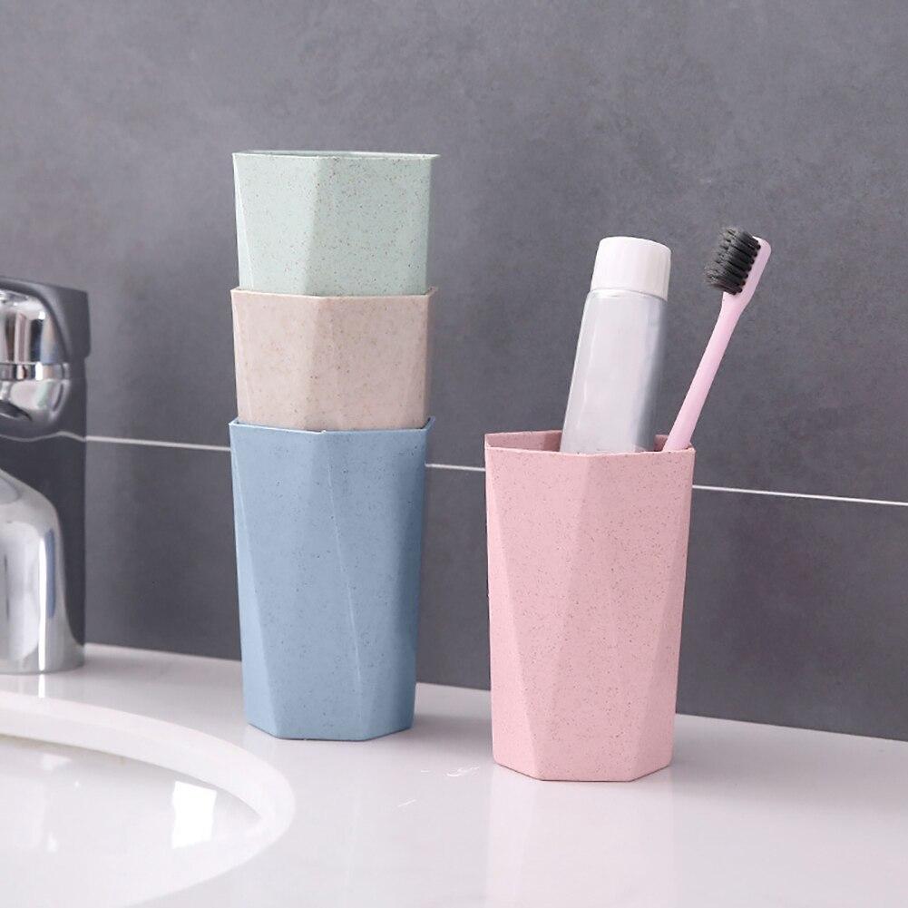 Eco-friendly Wheat Straw Gargle Mug Tooth Brush Home Travel 20