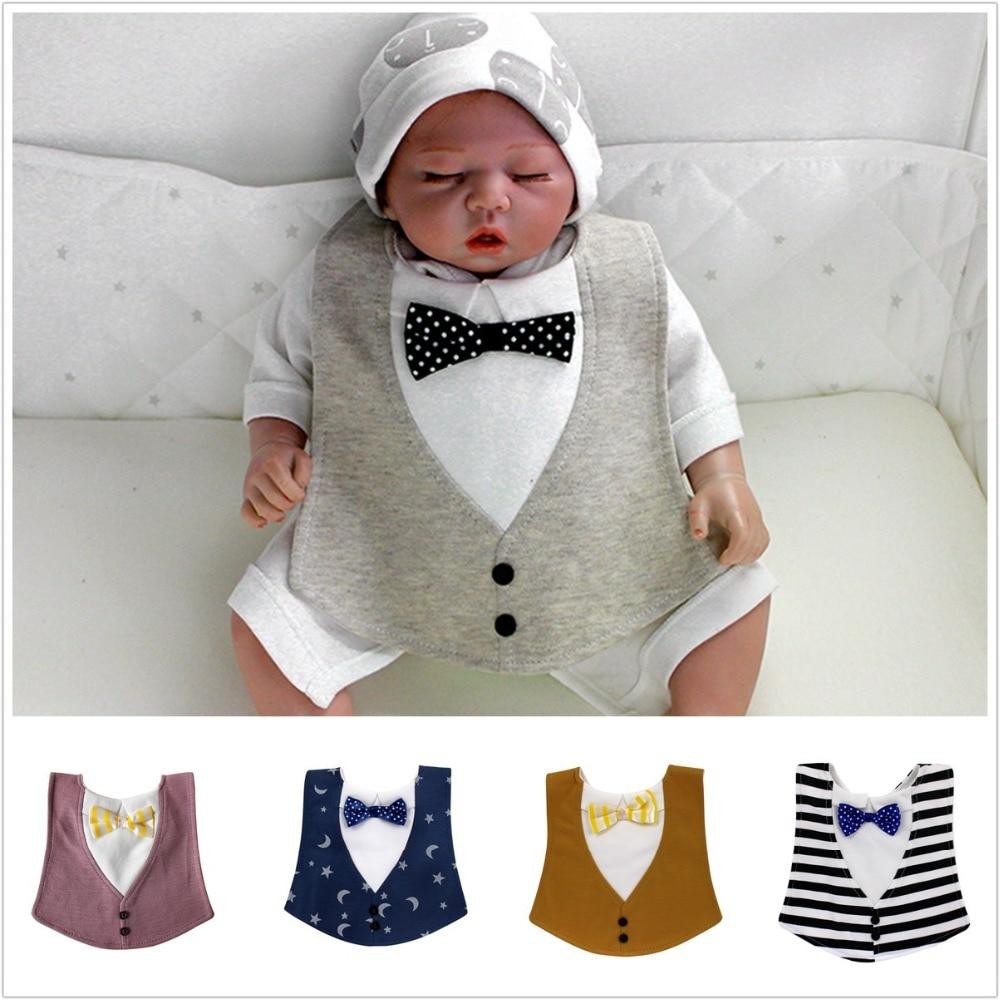 Lion Bear 3-36 Months Aviable As Collocation Baby Bib Handsome Gentleman Necktie Cute Waterproof For Boys