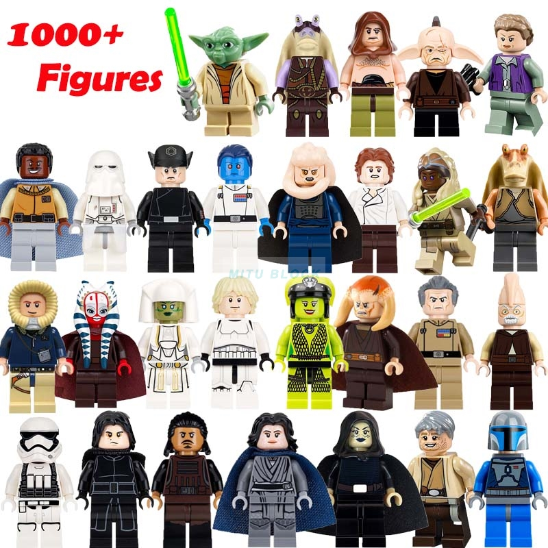 1pcs Legoelys Star Wars Building Block Han Solo Anakin Darth Vader Yoda Thrawn Brick Compatible Starwars Figures Toy
