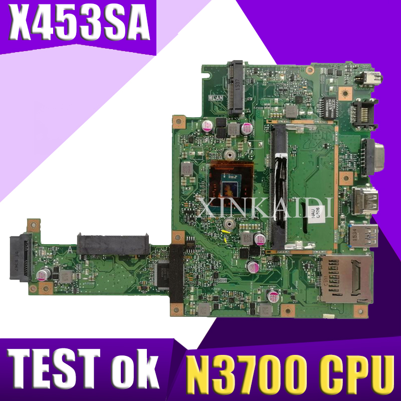 XinKaidi  X453SA Laptop motherboard for ASUS X453SA X453S X453 Test original mainboard N3700 CPU