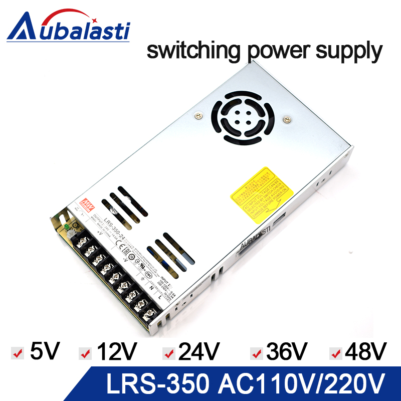 meanwell power supply LRS-350 switching power supply DC 5V 12V 24V 36V 48V Power Supply use for cnc router engraving machine laser cutting marking engraving machine diy parts meanwell mw nes 350 24 350w 24v power supply switching switch power supply