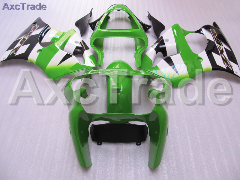 Moto Motorcycle Fairing Kit For Kawasaki Ninja ZX6R 636 ZX-6R 2000 2001 2002 00 01 02 ABS Plastic Fairings fairing-kit Green customize abs plastic fairing for kawasaki purple black zx9r 02 03 motorcycle body repair fairings ninja zx 9r 2002 2003 y3w4