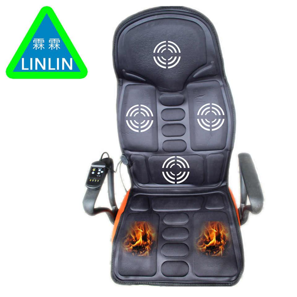 Linlin автомобиль домашний офис полный корпус для шеи поясницы Электрический массажный стул релаксационная Подушка сиденье тепло вибрирующий матрас кушетка для салона красоты