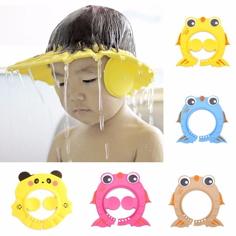 Furniture Safe Shampoo Shower Bathing Bath Protect Soft Cap Hat For Baby Wash Hair Shield Bebes Children Bathing Shower Cap Hat Kids Grade Products According To Quality