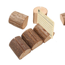 1pcs/lot Big Natural Wood  Stump Wedding Party Card Holder Stand Office Business card photo Clips