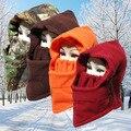 Sombrero de moda de Invierno Para Hombre Y Mujer Gorros de Abrigo de Lana de Invierno Máscaras Oído Protegida de Snowboard de Esquí Máscara Sombreros Cap
