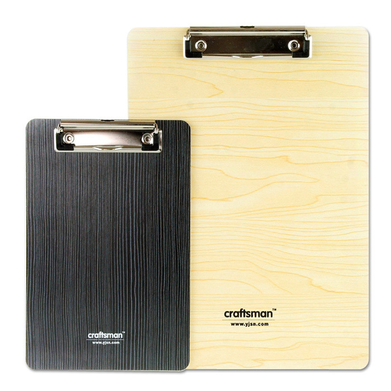 12 Styles Wooden Desk Card Notebook Papers Writing A5  School Office Accessories File Mat Drawing Folder Clip Board Clipboard