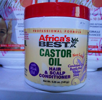 Africa's Best Castor Oil Hair & Scalp Conditioner, 5.25oz