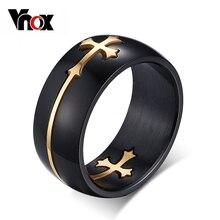 Сепарабельные vnox крест прохладный изделий ювелирных нержавеющей кольцо стали дизайн мужчин