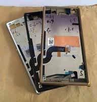 Oryginalny do Sony Xperia M5 Metalowa Obudowa Bezel Bliski Rama Płyta Przednia LCD + SIM USB Pokrywa + Przycisków Bocznych