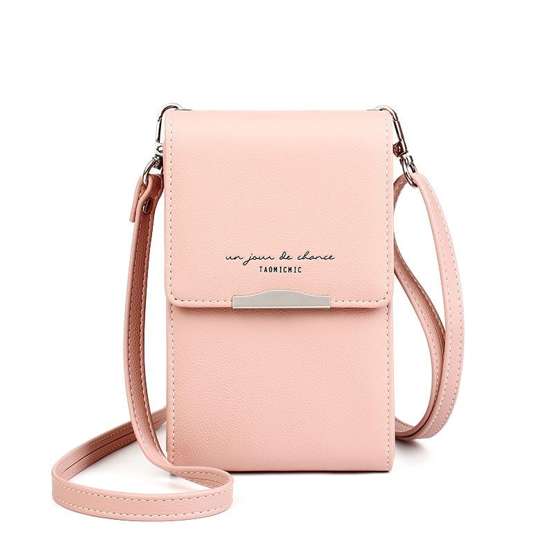 UR BOURSE Women's Pu Leather Phone Bag Wallet Ladies Mini Shoulder Bag Female Large Capacity Messenger Crossbody Bag Coin Purse
