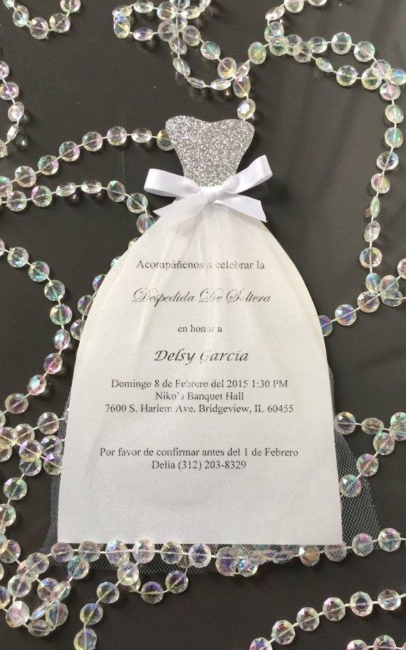 Magnífico Vestido De Boda Ducha Invitaciones Ideas Ornamento ...