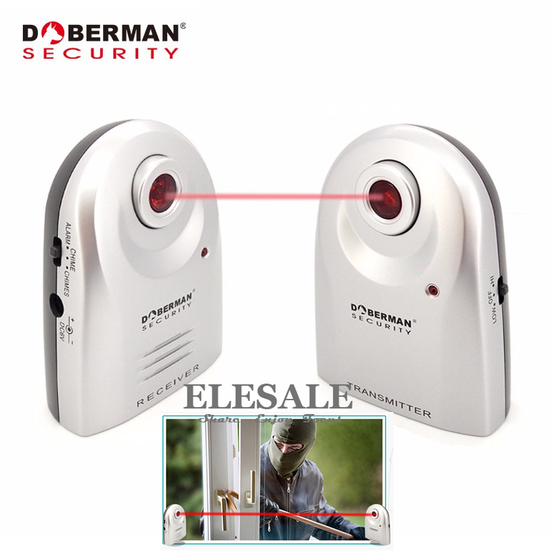 Doberman Security SE 0161 Entry Defender Infrared Beam Sensor Welcome Device Burglar Alarm System 2 In