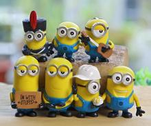 New!!! 7pcs Full Set Minios Cartoon Dolls Despicable Me 3 Action Figure Limited Edition Minions McDonalds Happy Meal Toys