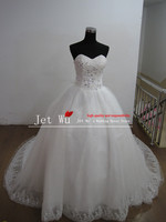 Real Sample Ball Gown Sweetheart Bling Crystal Tulle Skirt Wedding Dress 2013 From China Manufacturer S055