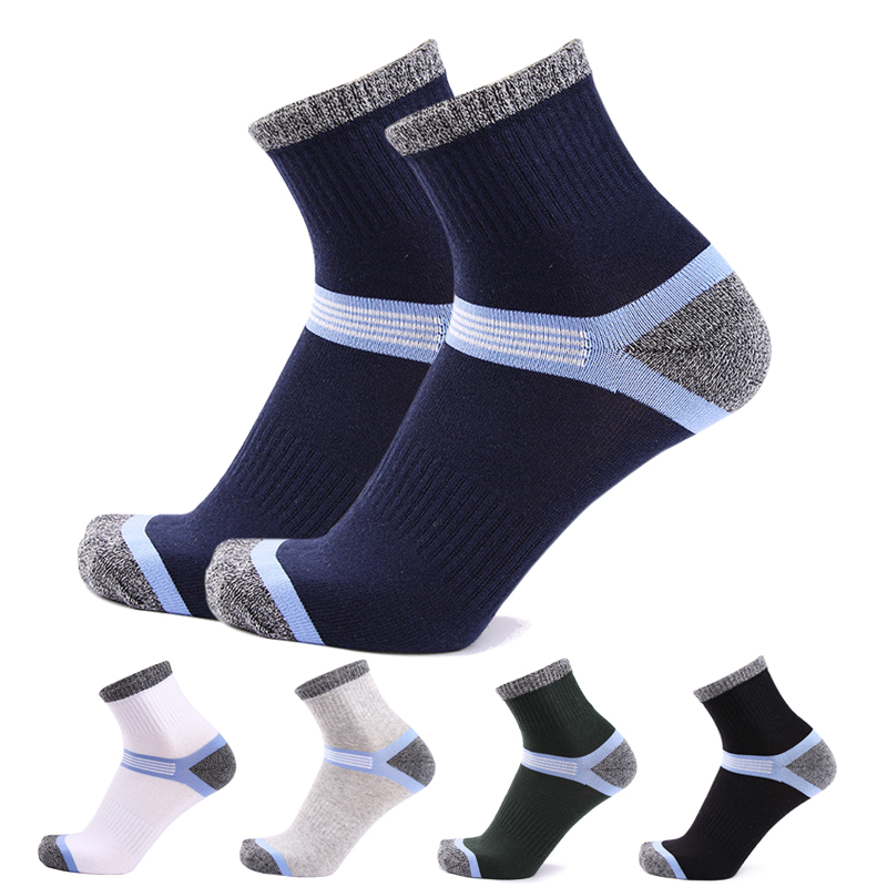 HSS 5Pairs / Lot Combed Cotton Men's   Socks   2019 New Casual Breathable Active   Socks   High Quality Man Stripe Long   Sock   EU39-45