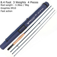Maximumcatch Fly Fishing Rod 3/4/5/6/7/8/10/12 WT 8.4/ 9/10 FT Carbon Fast Action Fly rods With Tube