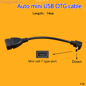 Image 3 - ChengHaoRan 1 шт., USB A, штекер, левый, угловой, 90 градусов, мини USB, папа, OTG, хост кабель 14 см для автомобиля