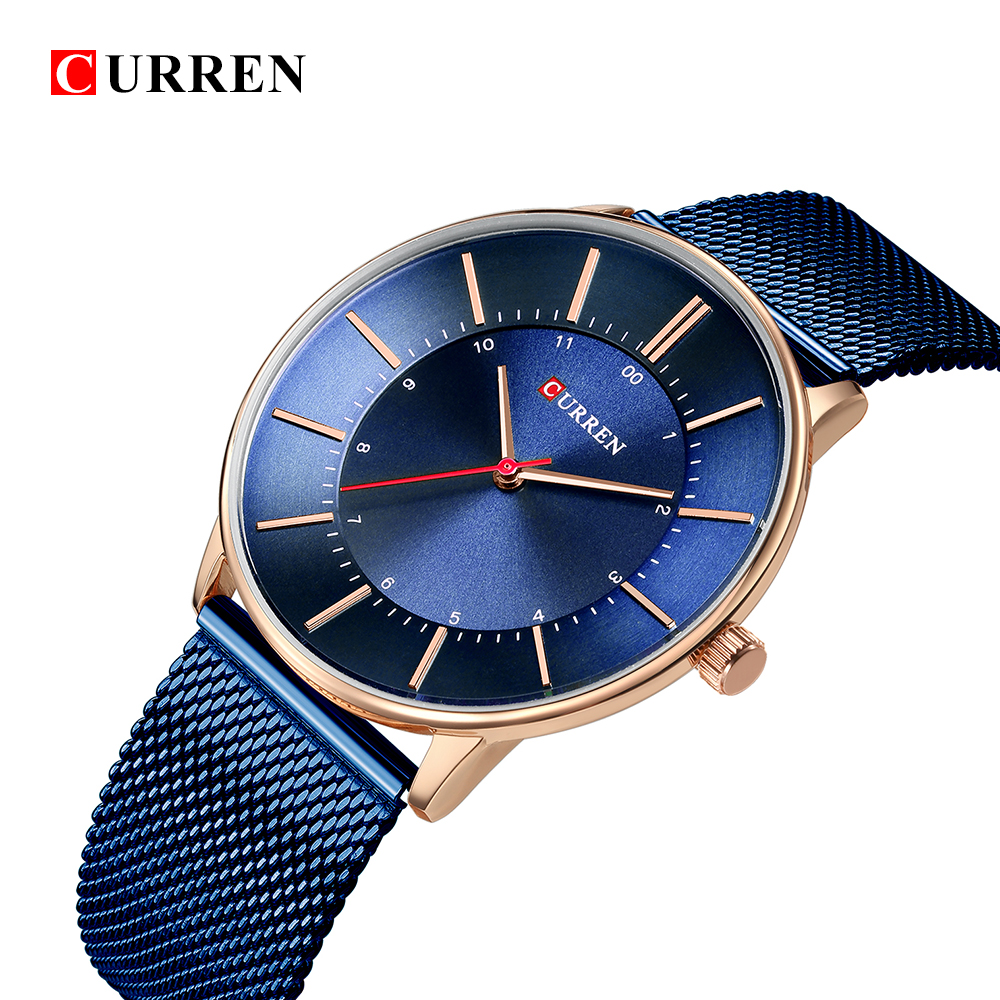 Luxury Brand Mens CURREN 2018 Fashion Stainless Strap Quartz Men Watches Casual Black Business Male Wristwatches Clock Montre new arrival curren brand men s quartz watches hot sale casual sports mens wristwatches fashion silicone straps male clocks hours
