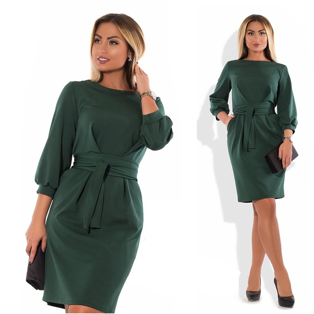 Plus Size Winter Dress 2018 Big Size Christmas Women Dress Ladies Bodycon Office  Dress 5XL 6XL Black Aututmn Dress Vestidos-in Dresses from Women s Clothing  ... 349b6a1aee25
