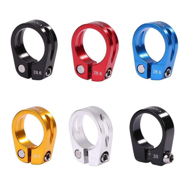 28.6/30mm Alloy MTB BMX Bike Seat Clamp Aluminium Quick Release Mountain Road Fixed Gear Bike Seatpost Clamp