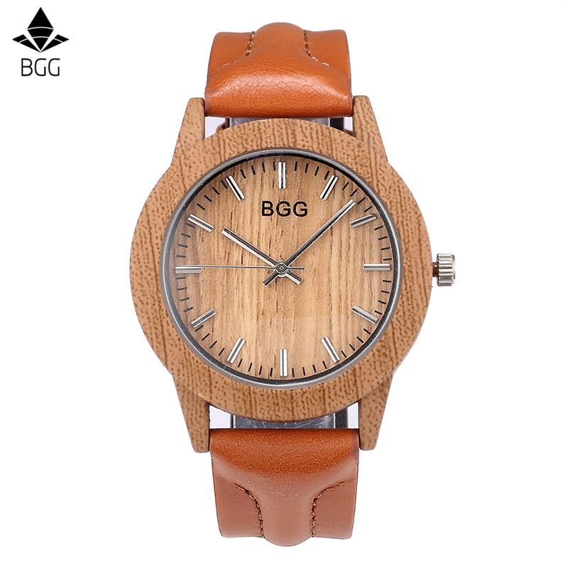 BGG النساء أزياء محاكاة خشبية اللون - ساعات نسائية
