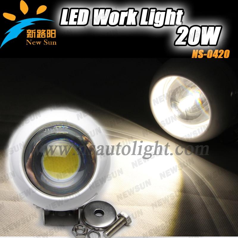 Hot Sale! 12V Led Driving Work light 20W LED Work Light 4inch  Super Bright Auto Led Working Lights with Flood Beam Light
