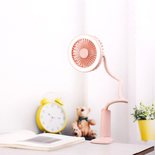 Portable USB Fan flexible + LED light 2 Speed Adjustable Cooler Mini Cliping Cooling for Office Home Desktop