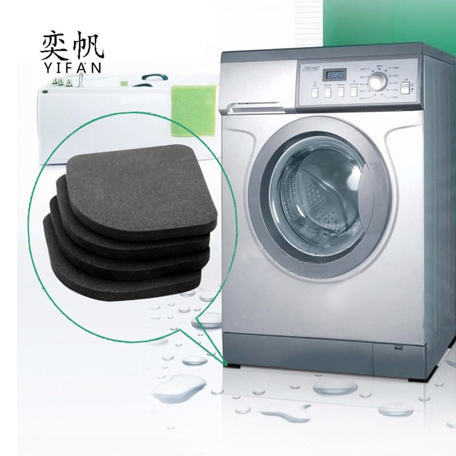 4Pcs/Set New Washing Machine Anti Vibration Pad Shock Proof Non Slip Foot Feet Tailorable Mat Refrigerator Floor Furniture Prot