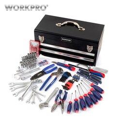 WORKPRO 239 шт. Набор инструментов для ремонта дома набор инструментов механика Наборы инструментов металлический ящик для инструментов