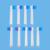 Envío Gratis cepillo de dientes eléctrico Recargable cepillo de dientes eléctrico (a la derecha o izquierda) 9 UNIDS cabeza del cepillo de dientes