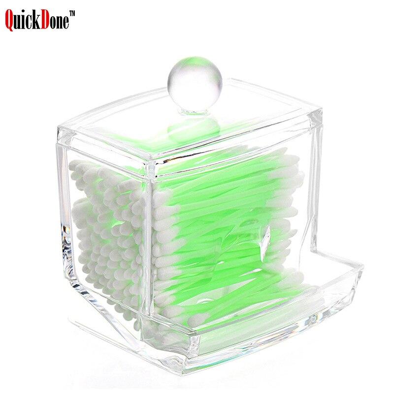 Quickdone Swabs-Stick Makeup-Storage-Box Transparent-Boxes Cosmetic-Organizer Necessities