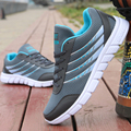 Men Casuals Shoes Men 2016 High Quality Breathable Lace up Flat Brand Shoes For Men Trainer Gray