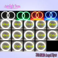Xenon White 90mm Led Halo Rings 12VDC 3014 SMD Led Angel Eyes Kits 72mm 80mm 100mm