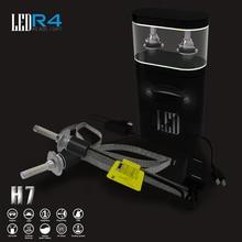 Специальная конструкция 2 шт. h7 led Медный тепловыделение 6000 R4 К 4800LM светодиодный авто лампы фар