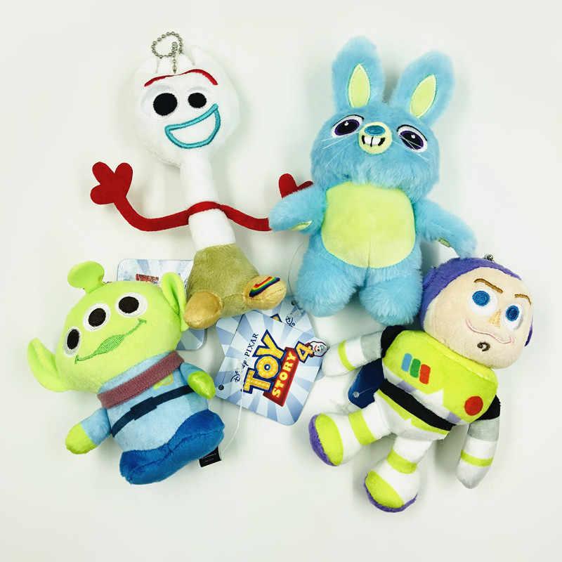 Hot Toy Story Woody 4 Forky Coelho Alienígena 6-15 CENTÍMETROS Toy Story Buzz Lightyear Boneca De Pelúcia Bichos de pelúcia Chaveiros criança Natal Presente de Aniversário