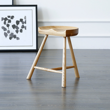Modern Design Solid Wood Bar stool dining room furniture Stool Kitchen dining chairs Fashion Popular Living Room shoes Low stool(China)