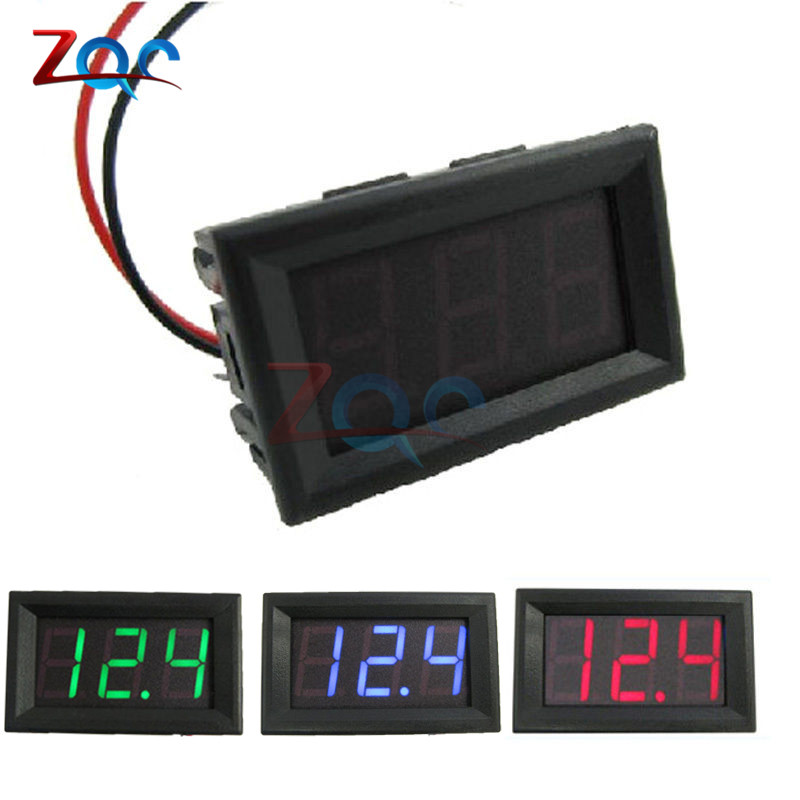 2 Wires 0.56 inch Digital Voltmeter DC 4.5-30V/ DC4.5-30V Blue LED Vehicles Motor Volt Voltage Panel Meter LED Voltmeter 12V 24V digital voltmeter dc 4 5v to 30v digital voltmeter voltage panel meter red blue green for 6v 12v electromobile motorcycle car