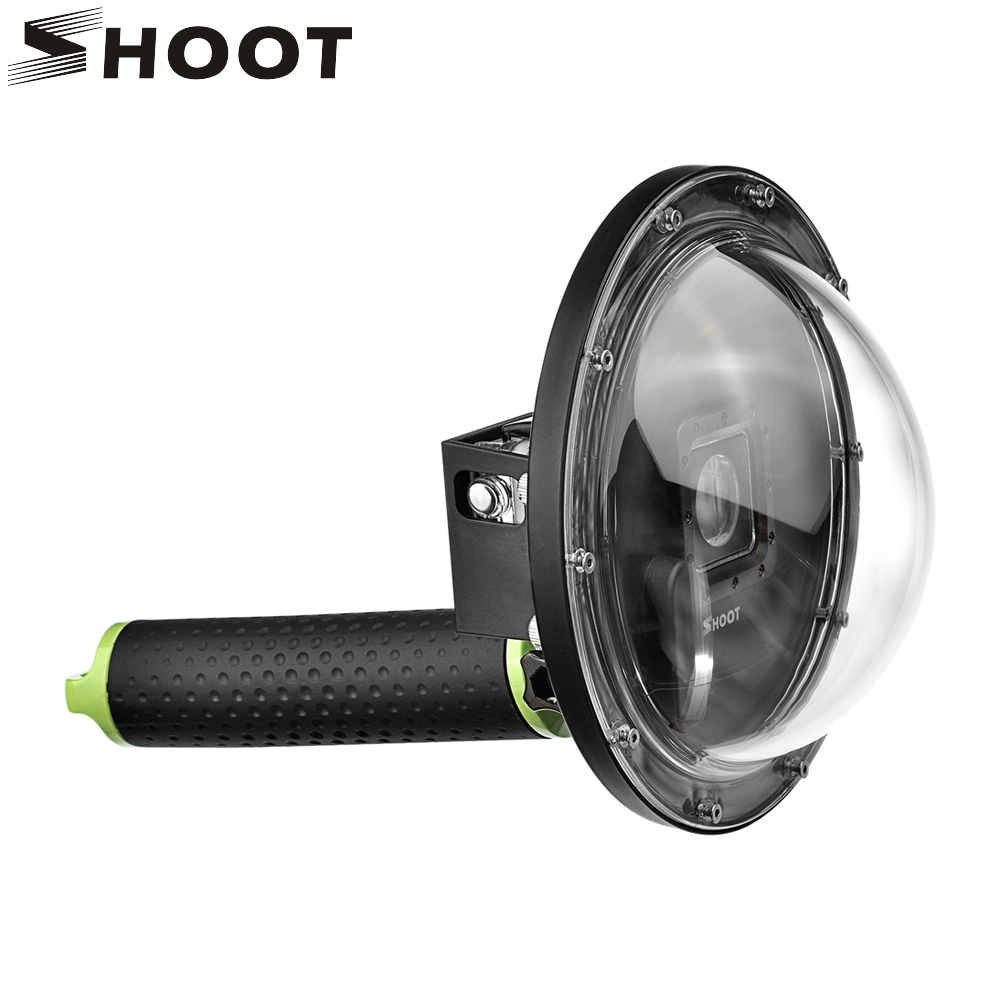 SHOOT 6 inch Diving Dome for Gopro Hero 5 6 4 Action Camera With Hand Grip Waterproof Case Go Pro Hero 6 5 Dome Go Pro Accessory