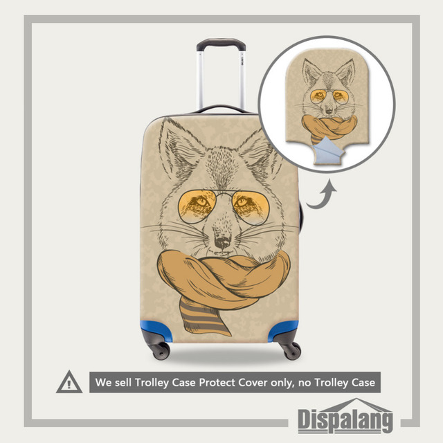 Animal Print Elastic Estiramento Bagagem Capa Protetora Para 18-30 Polegada Mala À Prova de Poeira Proteger Cobertura de Bagagem Acessórios de Viagem