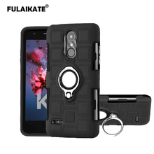 FULAIKATE Ice Cubes Case for LG K8 2017 Eu Version Ring Stand Back Cover Soft Anti-knock Phone Protective Cases
