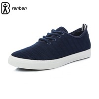RenBen Breathable Low Men S Shoes Summer Casual Solid Color Flat Shoes Durable Cool Wearing For